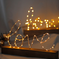 Creative Wooden Table Light Love Letter Decoration Led Light Wedding Gifts Birthday Gift Home Room Decoration Crafts