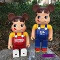 Bearbrick urso @ tijolo 400% Leitoso Menina PVC Figura de Ação Medicom Toy Art Trabalho Grande Presente para Amigos