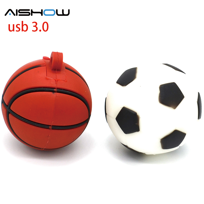 4GB 8GB 16GB 32GB USB Flash Drive Silicone basketball USB 3.0 Flash Memory Pen Drive Unique USB flash Drive U Disk Pendrives 2