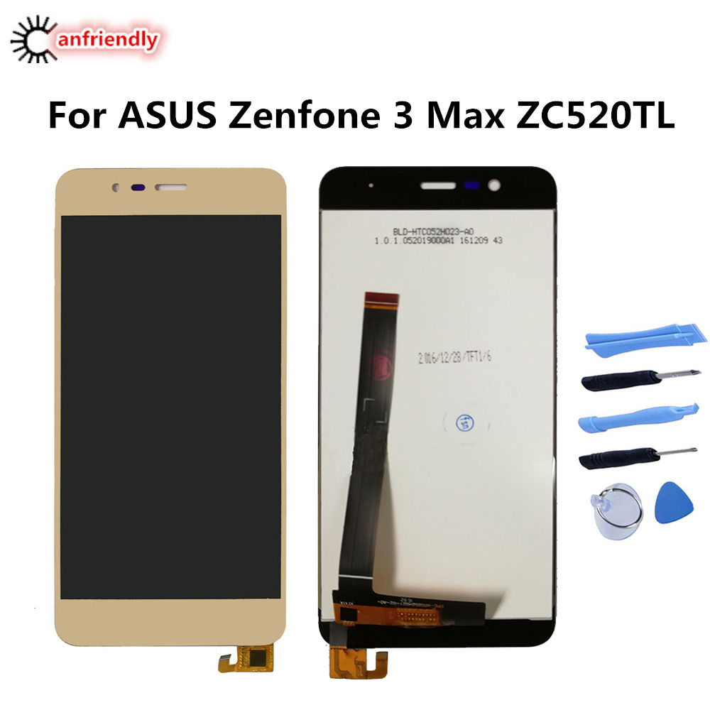 For <font><b>ASUS</b></font> <font><b>Zenfone</b></font> <font><b>3</b></font> <font><b>Max</b></font> <font><b>ZC520TL</b></font> X008D LCD Display+Touch panel <font><b>Screen</b></font> Digitizer with frame Assembly <font><b>Replacement</b></font> zenfone3 <font><b>max</b></font> 5.2