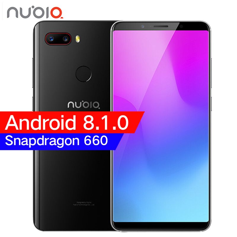 "Original ZTE Nubia Z18 mini 6GB 64GB Snapdragon 660 Octa Core Mobile Phone 5.7"" 2160*1080P 24MP Camera FHD Full Screen Face ID"