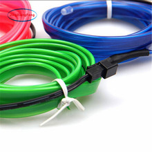 1-5 M Car interior lights 10color 1-5m Neon Light Glow EL Wire Rope tape Cable Strip 12V LED cold Light Shoes Clothing decorate 1 5 1 5m blue