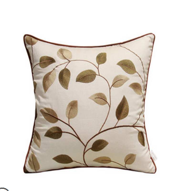 ᗐLujo Bordado geométrica sofá decorativo Almohadas cusion hojas de ...