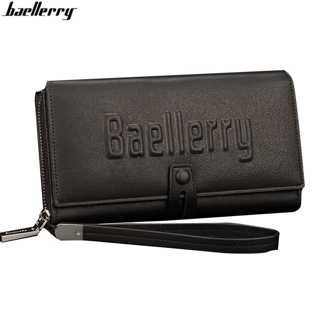 Baellerry Long Wallet Clutch Brand Vintage Designer Men Card Holder Quality Leahter Purse For Man Handy Bags-- BID167 PM49 us and european hot selling new high quality vintage men s long money wallet baellerry wholesale purse clutches for man w008