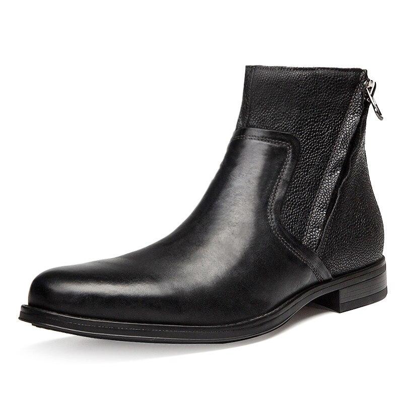 Superior Couro 45 brown Novo Incre Incre Trabalho Homens Black Sapatos Do Internal Inverno Segurança Genuíno De black brown 2018 Botas Qualidade 40 4Izffq