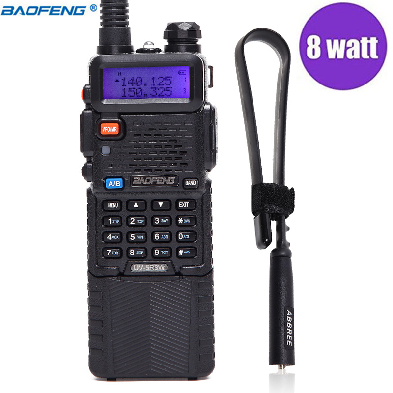 Baofeng UV-5R 8 w Potente 10 km Lungo Rang VHF UHF Dual Band UV5R Radio Portatile Walkie Talkie & Tactical antenna