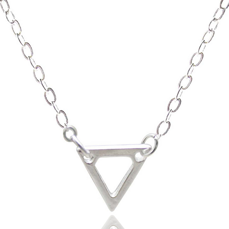 Triangle Pendant Silver Plated Necklaces Fashion Jewelry For Women Gift Cloth & Jewelry Accessories Thanksgiving gifts