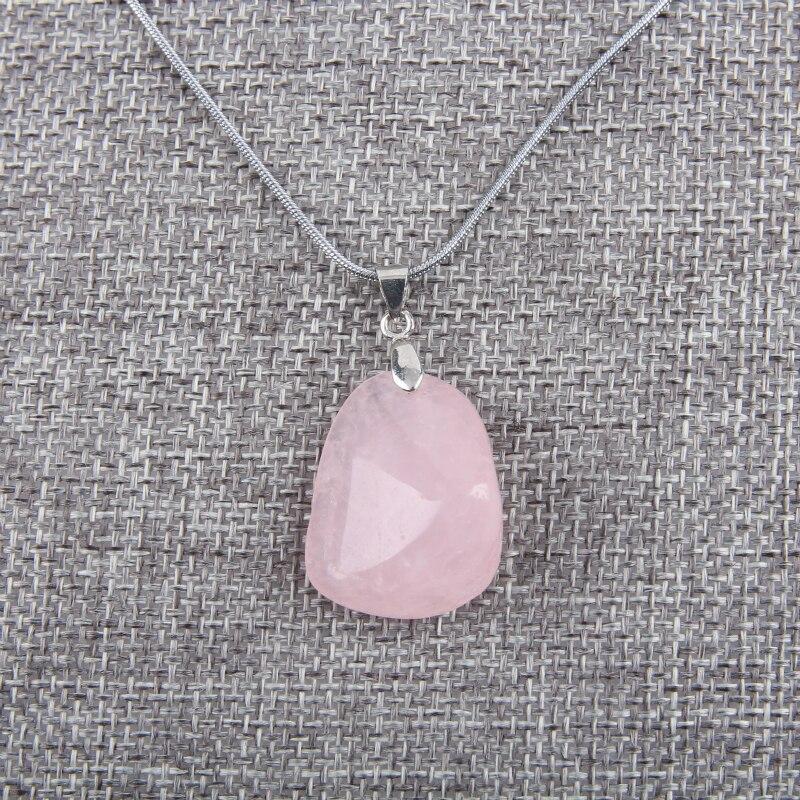 Natural Rose Quartzs pendant health lucky irregular shape Stone crystal pendant small jewelry pendants