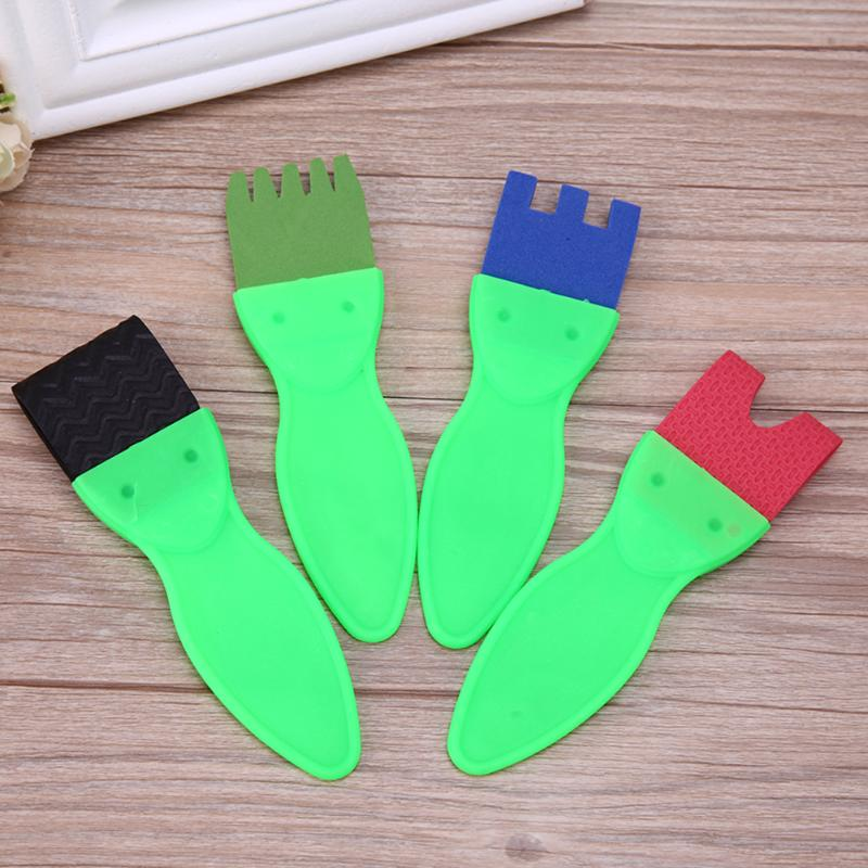 4pcs/set Baby Toys Plastic Sponge Brush Children DIY Painting Graffiti Kids Drawing Toys Best Gifts