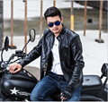 leather jacket men Men 's Jackets leisure  leisure personality leather autumn and winter coat men' s leather jacket PU lea