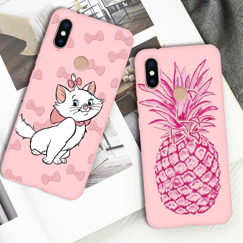 Candy Pink Silicone TPU For Xiaomi Redmi Mi A1 A2 8 Lite 9 Note 4 Global 4X 4A 5 Plus 5A 6 6A 7 Pro Pocophone F1 S2 Y2 8 Case