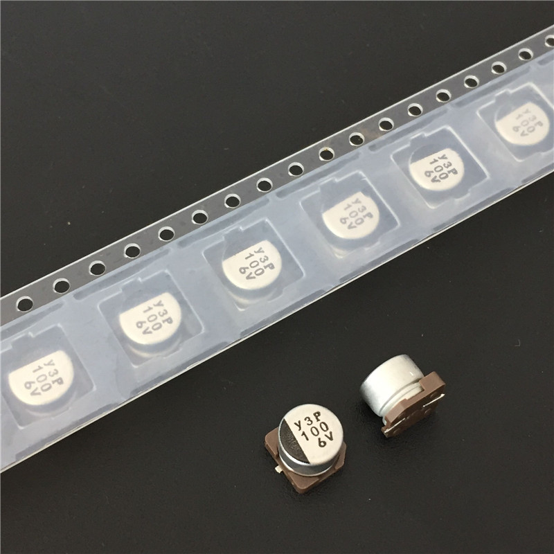 100pcs 100uF 6.3V NICHICON WF Series 6.3x5.4mm 6.3V100uF Low Impedance Chip Type SMD Aluminum Electrolytic Capacitor