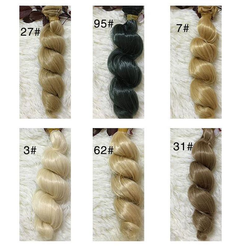 Toys & Hobbies Dolls & Stuffed Toys Genteel 50pcs/lot Wholesale Synthetic Doll Wig Diy Wavy Curly Doll Hair 15cm Bjd Hair Accessories