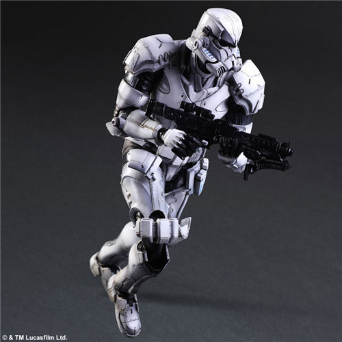 Elsadou 26cm Play Arts PA Star Wars Stormtrooper Action Figure Toy Doll Collection star wars taiko yaku stormtrooper 1 8 scale painted variant stormtrooper pvc action figure collectible model toy 17cm kt3256