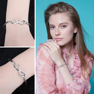 Image 4 - Jewelrypalaceクラウン無限の愛 925 純銀製の腕輪女性のためのシルバー 925 ジュエリーメイキングオーガナイザー