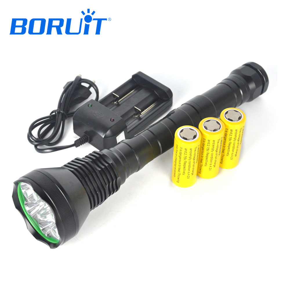все цены на BORUiT 9000LM 9 XML T6 LED Flashlight 5-Mode Emergency Portable Lantern 26650 Battery Alloy Torch For Camping Hunting Outdoor онлайн