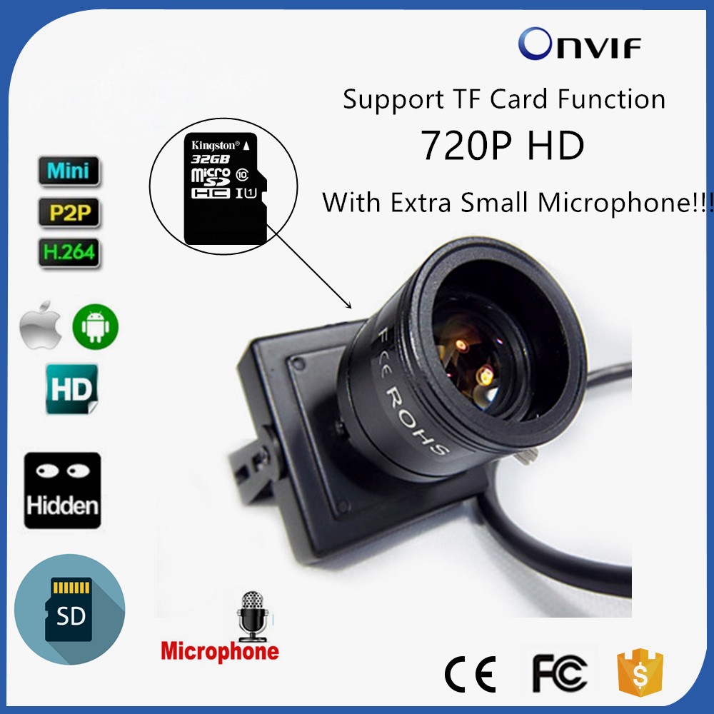 CAMHI P2P Onvif Audio 720P Micro TF SD Card Slot Mini IP Camera Home Use Indoor Security CCTV IP Kamera 9-22mm Lens