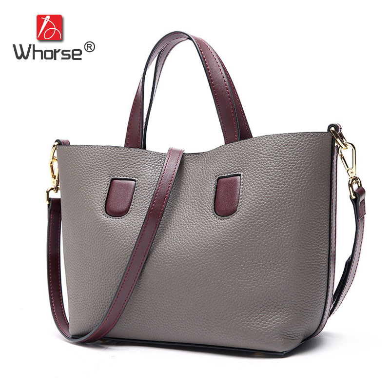 Famous Brand Casual Small Composite Bag Genuine Leather Handbag Cowhide Women Messenger Shoulder Crossbody Bags For Lady W09260