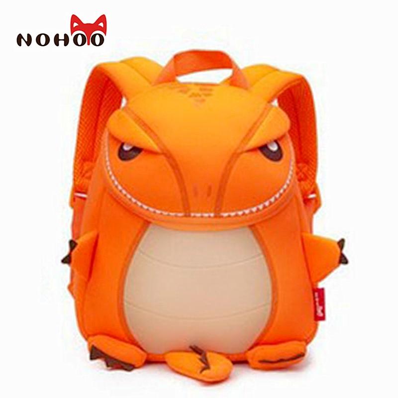 NOHOO Large Size Cartoon Children Dinosau Backpacks Waterproof Dinosaur School Bag for Teenage Girls Boys Fashion Kids Baby Bags цена и фото