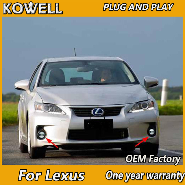 Kowell Car Styling For Lexus Ct200h Ct Is Es 200 250 300 Led Fog Light Auto Angel Eye Lamp Drl 2 Function Model
