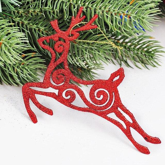 christmas decoration natal navidad craft supplies christmas moose ornaments 13x11cm hollow stick powder multicolor optional - Christmas Moose