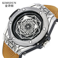 Top Brand Luxury Watch Men Fashion Casual Leather Strap Sport Watch Luminous 30M Waterproof Unique Quartz Watches Men