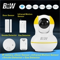 WiFi Security Camera IP Surveillance System Email Alert Wireless Camera Monitor Detector With Linking Alarm Sensor BW12Y