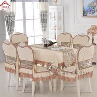 High end European dining chair cushion chair cover banquet tablecloth wedding party banquet home table cloth chair cover napkin