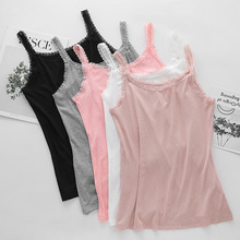 ФОТО lace girl tank top cotton women summer spring lace top sexy fitness clothing women shirts ladies camis solid casual vest top