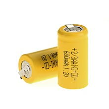 New arrival for ! 2 pcs 2/3AA Ni-Cd 1.2V 2/3AA rechargeable battery NiCd Batteries – Yellow 600 mah