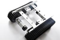 Hello Maker T219 Silver Alloy DIY Tank Chassis Robbot Chassis
