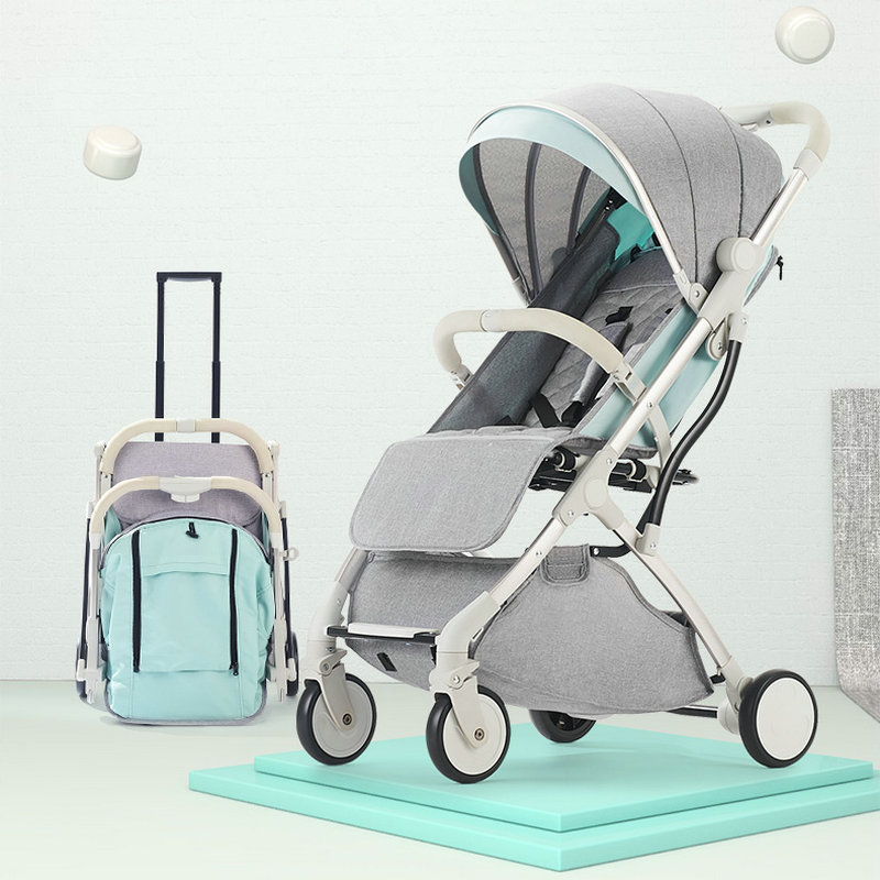 Baby stroller ultra light portable can sit reclining folding mini children pocket umbrella baby bb trolley baby stroller 5kg ultra light portable on the plane can sit lie simple mini folding baby pocket umbrella summer