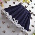 Бесплатная доставка летний новый детская одежда девочек хлопок юбка плиссированные юбки детей