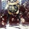 Marca Nuevo Faraón Impreso Harem de Seda Pantalones Punk Style Hip Hop Desgaste de La Calle Impresionante Pantalones de Las Mujeres
