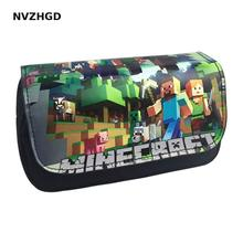 The new best selling mosaic cartoon game My world 3D pencil bag school office stationery large