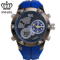 SMAEL  Sport Watch Fashion Dual Time Men Clock Quartz-Watch Big Watches for Men LED Digital Watch reloj hombre shark watchWS1042