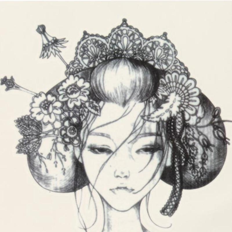 Favoloso Bella di Disegno Impermeabile Giappone Geisha Temporaneo Del XX82