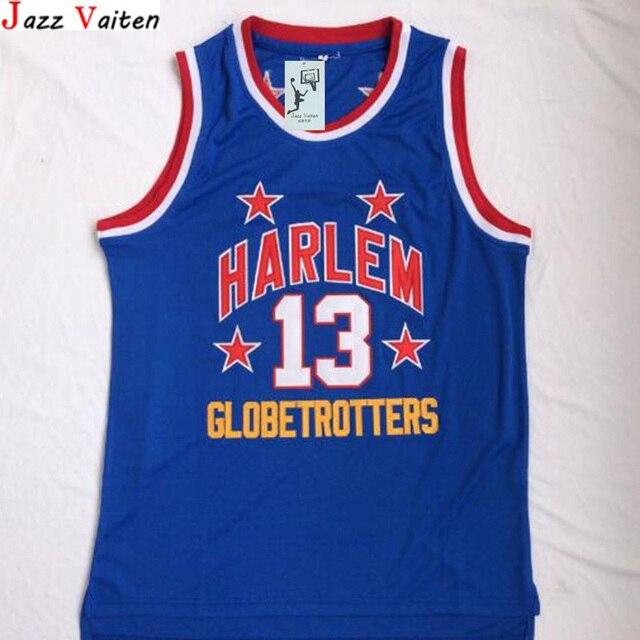 02b4bc912426 Jazz Vaiten Harlem Globetrotters  13 Wilt Chamberlain Jersey Throwback  College Basketball Jersey Vintage Retro For Mens Shirts