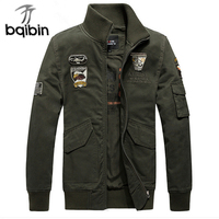 2017 Air Force One MA1 Thick Warm Brand Jacket Men Bomber Jacket Military Style Pilot Outwear