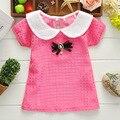 2016 Summer Princess Bow Girls baby Short Sleeve Tops T-shirts Tees S1518