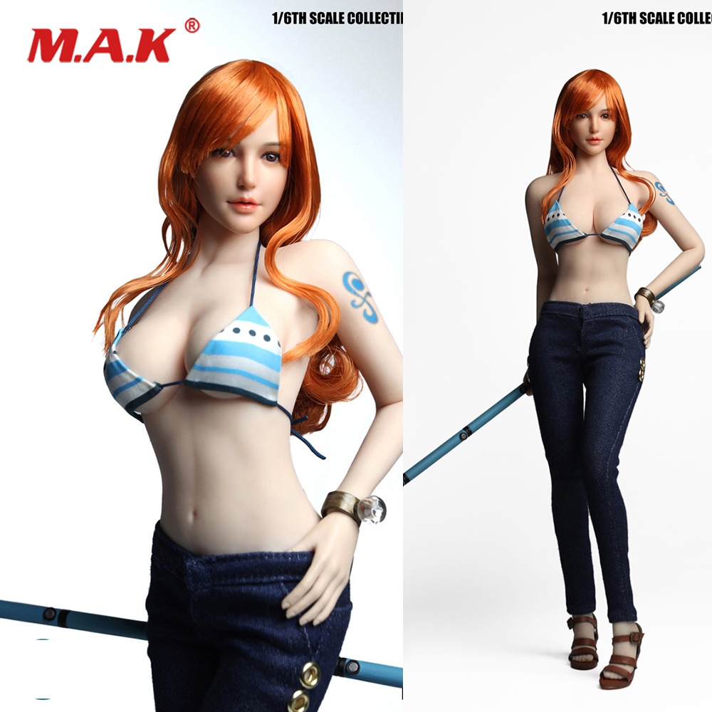 1/6 Scale COSPLAY SET027 Navigator ONE PIECE Nami Head & Cothing Set for 12 inches TBLeague Action Figure Body Accessory 1/6 Scale COSPLAY SET027 Navigator ONE PIECE Nami Head & Cothing Set for 12 inches TBLeague Action Figure Body Accessory
