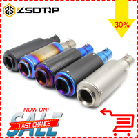 ZSDTRP Universal Motorcycle Exhaust Modified Scooter Exhaust Muffle Fit For CBR YZF YBR TTR CBR125 CBR400