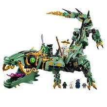 Шт. 592 шт. ниндзя Legoings Ninjagoed Летающий мех Дракон строительные Конструкторы кирпичи игрушечные лошадки модель ниндзя действие Фигурки игрушки подарки