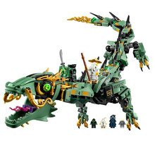 592pcs Ninja Legoings Ninjagoed Flying Mecha Dragon Building Blocks Bricks Toys Model Ninja Action Figures Toys Gifts(China)