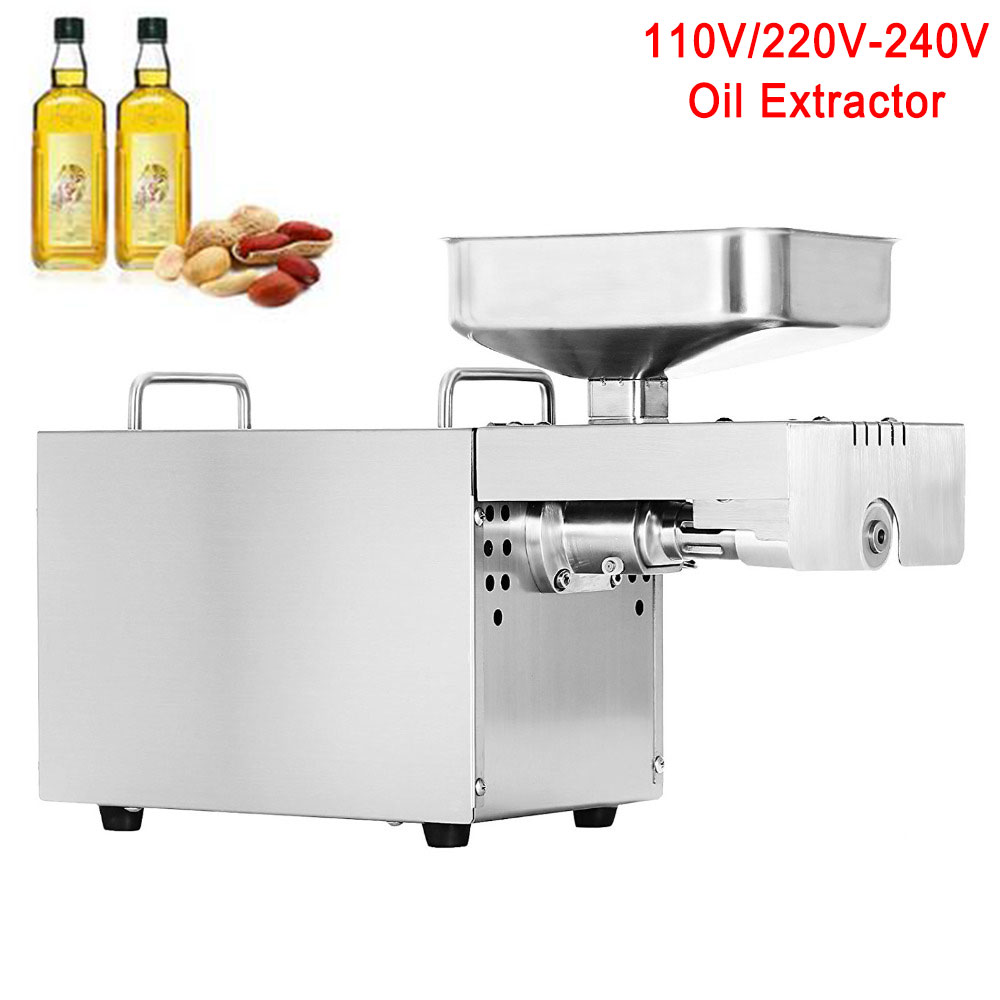 Top quality Stainless Steel Commercial Home Oil Extractor Presser Oil Press Machine Heat Cold Press Oil 110V/220V available portable clinic clinical pet animal dog and cat refractometer rhc 300 atc blood protein serum urine plasma