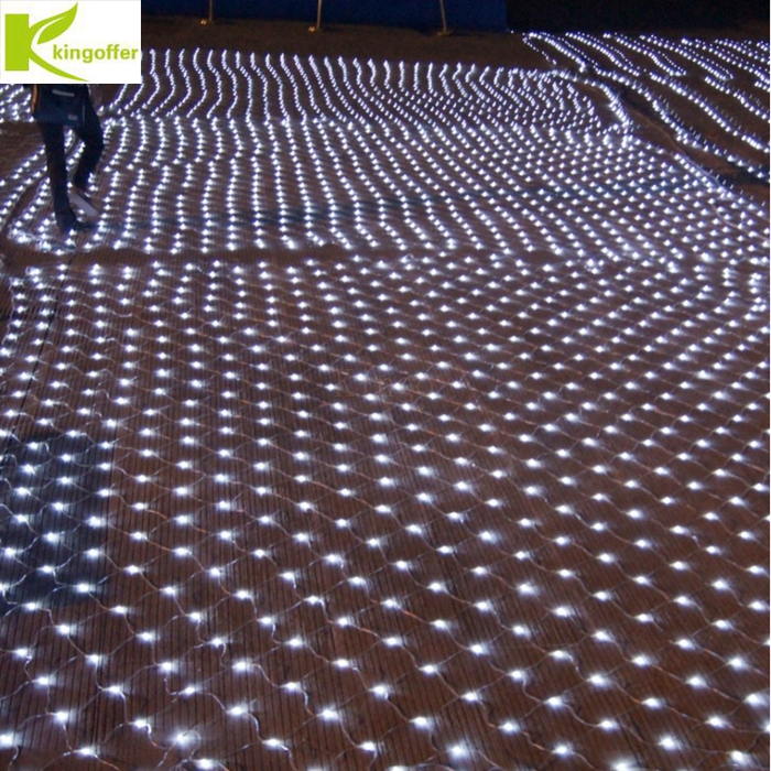 купить 4Mx6M 750Led Christmas Garlands LED String Fishing Net Lights Fairy Xmas Party Garden Wedding Decoration Curtain Lights 220v онлайн