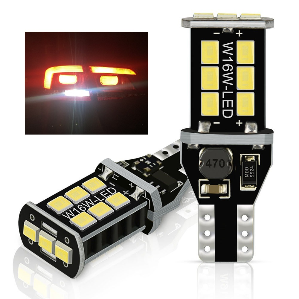 H21W BAY9s AMBER SMD CREE LED REAR FOG CAN OBC ERROR FREE NEW bulbs fit VW
