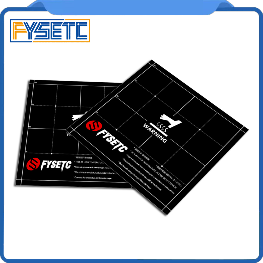 Heat Hot Bed Sticker Coordinate Printed Surface Build Sheet Plate 220x220mm For Anet A6 A8 Tarantula Ender-3 3D Printer Parts