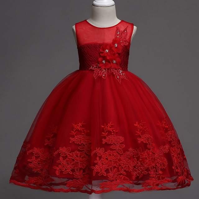 36d897b0e Online Shop Kids Infant Girl Flower Petals Dress Children Bridesmaid ...
