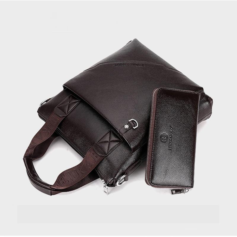 Fashion Handbag Briefcases Men's Business Bag Genuine Leather Men Crossbody Bag Male Handbags Laptop Bag Shoulder Messenger Bags
